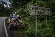 Dan and Jeep. Equator.