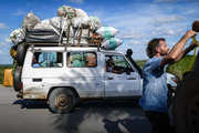 Transferring gas with a local vehicle